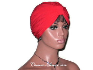 Handmade Red Double Knot Turban, Cardinal - Couture Service  - 3