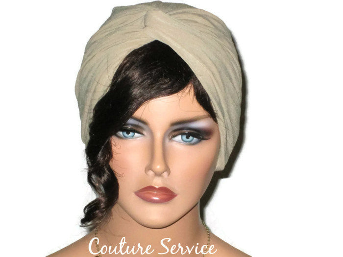 Handmade Sand Twist Turban, Crepe Textured - Couture Service  - 1