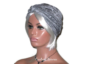 Handmade Silver Twist Turban, Velour - Couture Service  - 1