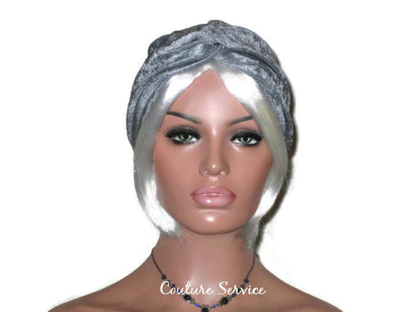Handmade Silver Twist Turban, Velour - Couture Service  - 2