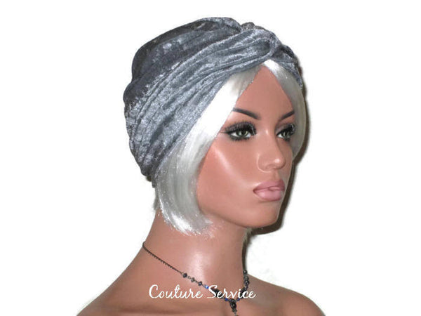 Handmade Silver Twist Turban, Velour - Couture Service  - 3