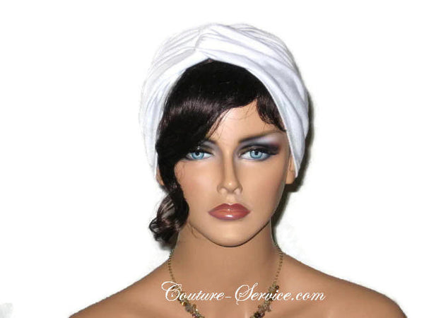Handmade White Twist Turban, Rayon - Couture Service  - 1