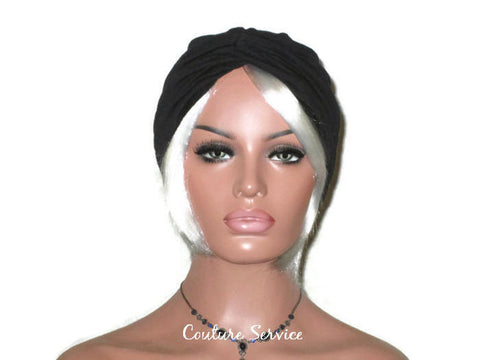 Handmade Black Twist Turban, Hundred Percent Cotton - Couture Service  - 1