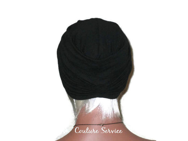 Handmade Black Twist Turban, Hundred Percent Cotton - Couture Service  - 3