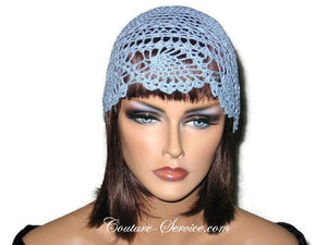 Handmade Blue Pineapple Lace Cloche, Delft - Couture Service  - 1