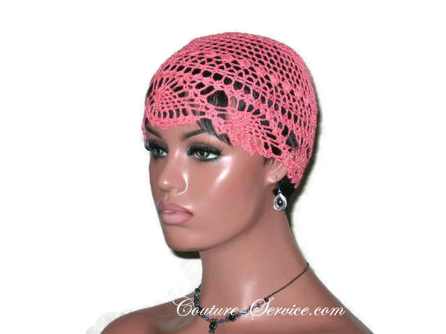 Handmade Coral Pineapple Lace Cloche - Couture Service  - 1