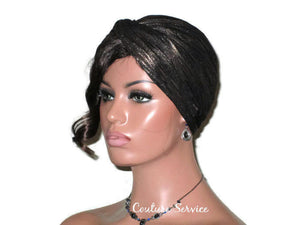 Handmade Gold Twist Turban, Black, Metallic - Couture Service  - 1