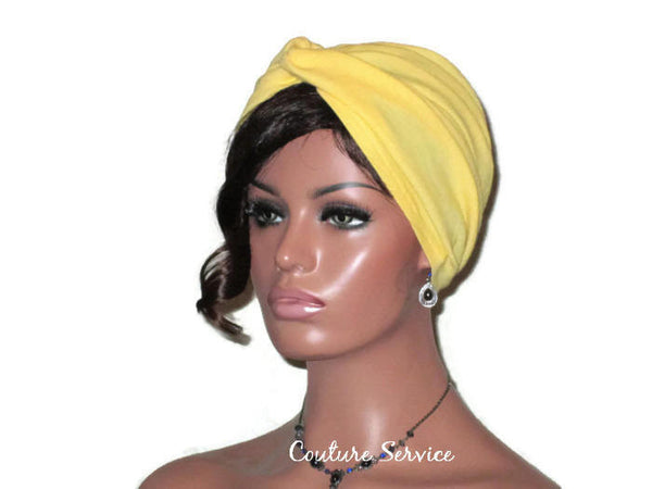 Handmade Yellow Twist Turban, Cotton Gauze - Couture Service  - 1