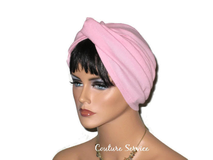 Handmade Pink Twist Turban, Cotton Gauze - Couture Service  - 1