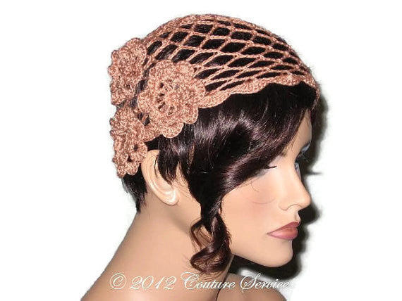 Handmade Scalloped Edge Lace Demi Cloche, Copper - Couture Service  - 2
