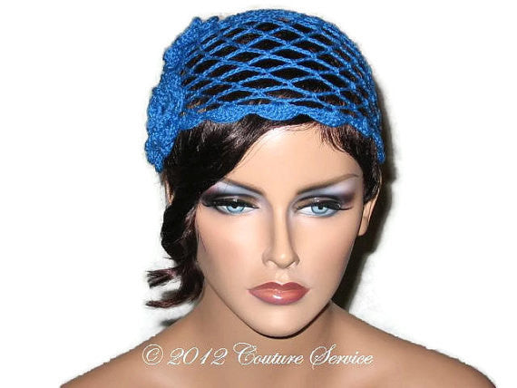 Handmade Scalloped Edge Lace Demi Cloche, Blue - Couture Service  - 2