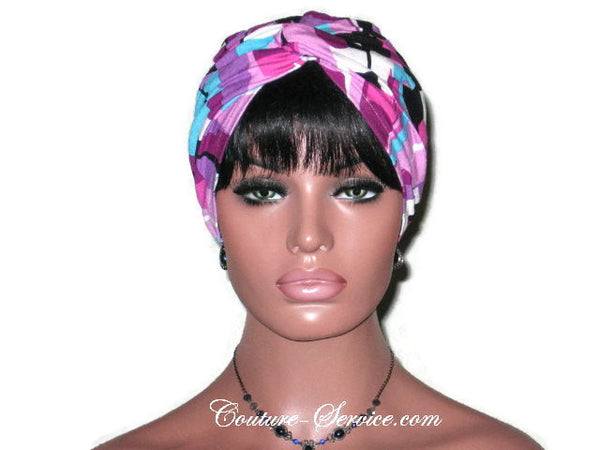 Handmade Purple Twist Turban, Abstract, Rayon - Couture Service  - 2