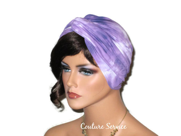 Handmade Purple Twist Turban, Tie Dye - Couture Service  - 4