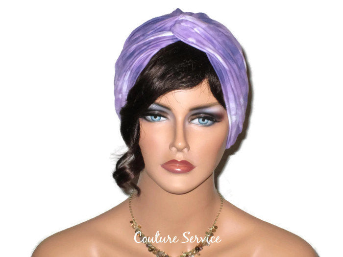 Handmade Purple Twist Turban, Tie Dye - Couture Service  - 1