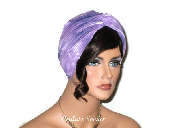 Handmade Purple Twist Turban, Tie Dye - Couture Service  - 2