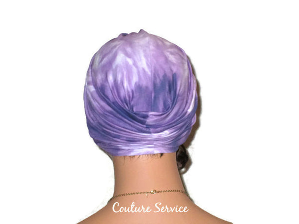 Handmade Purple Twist Turban, Tie Dye - Couture Service  - 3