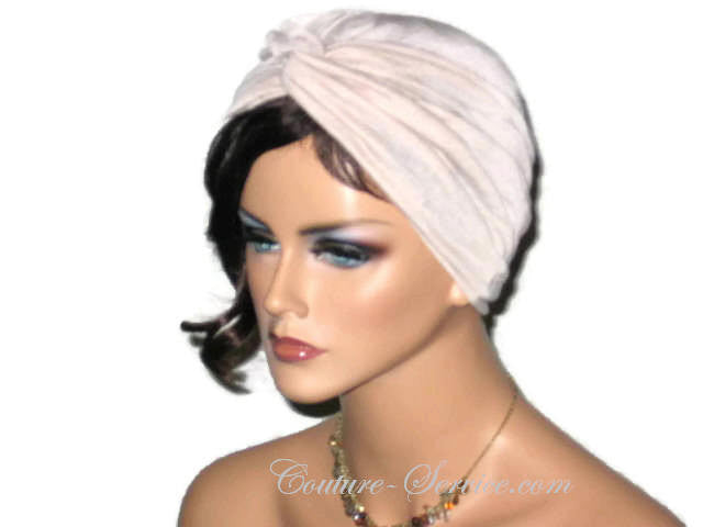 Handmade Tan Twist Turban, Crinkled Rayon - Couture Service  - 2