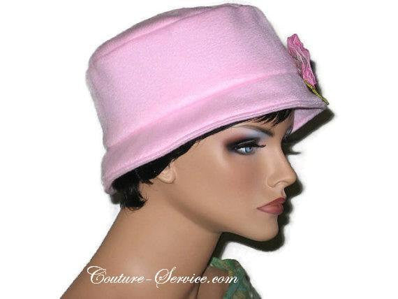 Handmade  Lined Fleece Bucket Hat, Soft Pink - Couture Service  - 3