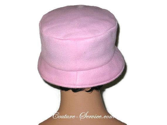 Handmade  Lined Fleece Bucket Hat, Soft Pink - Couture Service  - 4