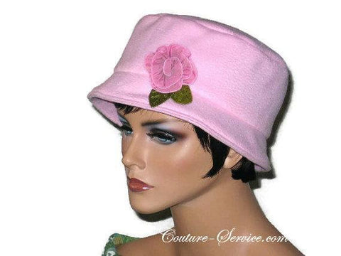 Handmade  Lined Fleece Bucket Hat, Soft Pink - Couture Service  - 1
