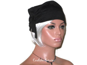 Handmade Black Turban Hat, Self Lined, Rayon, Side Looped - Couture Service  - 1