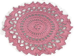 Handmade Decorative Coral Crocheted Cotton Doily - Couture Service  - 2