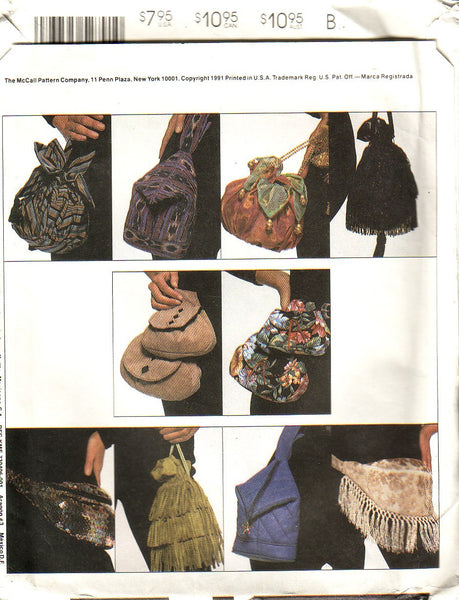 Vintage McCalls 5279 Learn To Sew Handbags and Purses - Couture Service  - 2