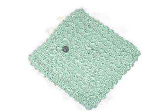 Handmade Decorative Crocheted Cotton Dishcloth Set, Green - Couture Service  - 2