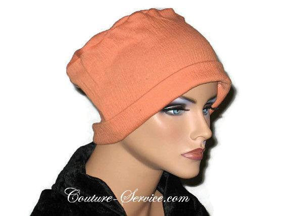 Handmade Orange Chemo Fashion Hat - Couture Service  - 3