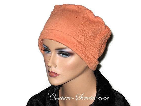 Handmade Orange Chemo Fashion Hat - Couture Service  - 1
