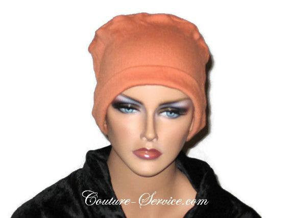 Handmade Orange Chemo Fashion Hat - Couture Service  - 2