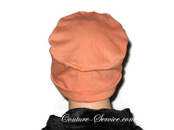 Handmade Orange Chemo Fashion Hat - Couture Service  - 4
