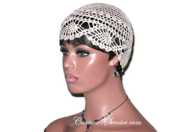 Handmade Natural Pineapple Lace Cloche - Couture Service  - 2