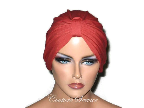 Handmade Orange Chemo Turban,  Burnt Orange - Couture Service  - 1