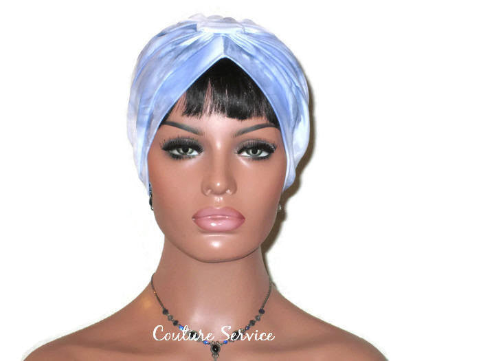 Handmade Blue Turban, Banded Single Knot, Tie Dye - Couture Service  - 1