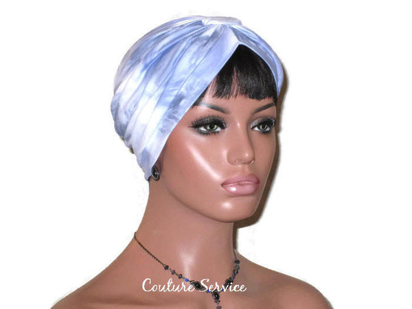Handmade Blue Turban, Banded Single Knot, Tie Dye - Couture Service  - 4