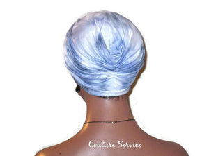 Handmade Blue Turban, Banded Single Knot, Tie Dye - Couture Service  - 3