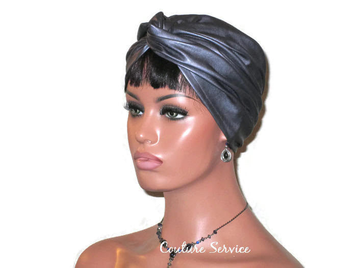 Handmade Leather Turban, Grey Platinum - Couture Service  - 1