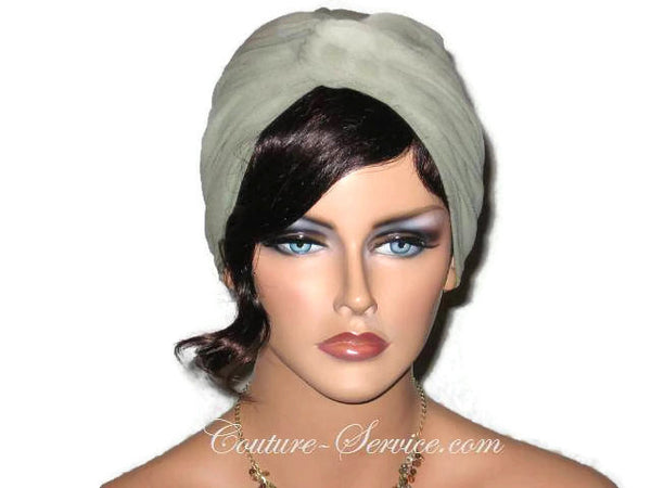 Handmade Green Twist Turban, Sage - Couture Service  - 1