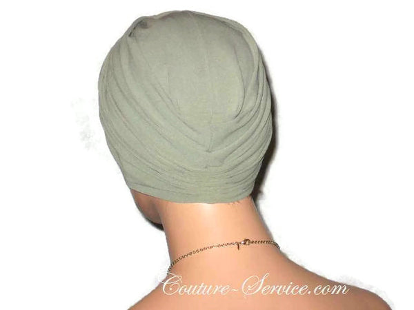 Handmade Green Twist Turban, Sage - Couture Service  - 3