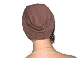 Handmade Brown Twist Turban, Chocolate - Couture Service  - 3