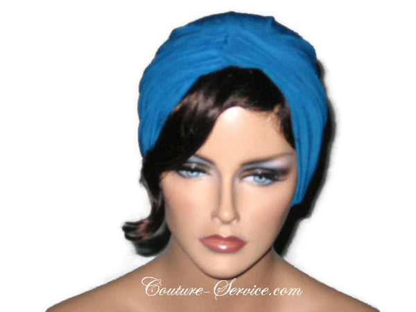 Handmade Blue Twist Turban Teal - Couture Service  - 1