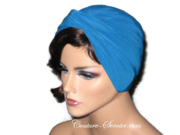 Handmade Blue Twist Turban Teal - Couture Service  - 2