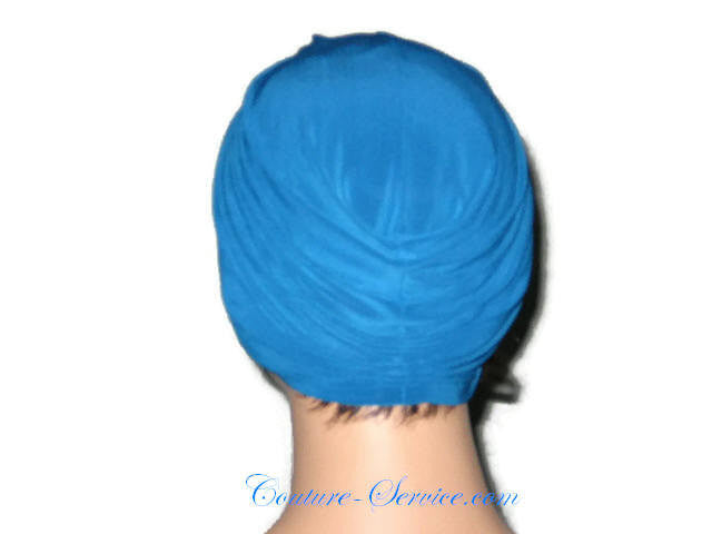 Handmade Blue Twist Turban Teal - Couture Service  - 3