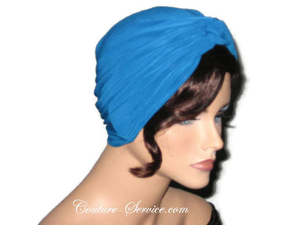 Handmade Blue Twist Turban Teal - Couture Service  - 4