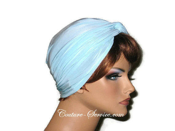 Handmade Blue Twist Turban, Powder - Couture Service  - 2