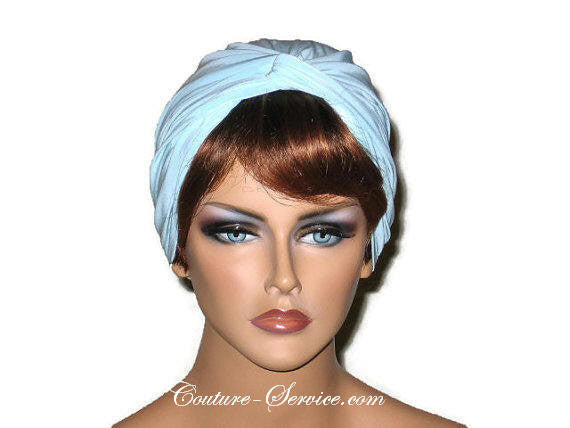 Handmade Blue Twist Turban, Powder - Couture Service  - 1