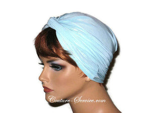 Handmade Blue Twist Turban, Powder - Couture Service  - 4