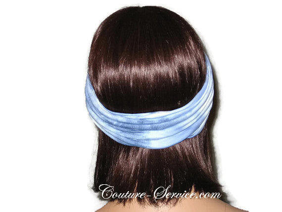 Handmade Blue Bandeau Headband Turban, Light Blue, Tie Dye - Couture Service  - 3