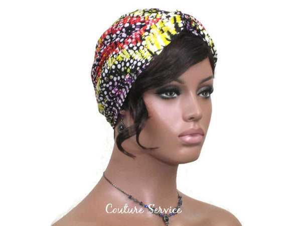 Handmade Red Twist Turban, Abstract, Designer Knit - Couture Service  - 3